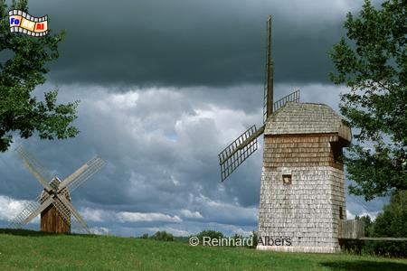 Masurisches Freilichtmuseum bei Olsztynek (Hohenstein) in Polen, Windmühle, Bockmühle, Polen, Masuren, Freilichtmuseum, Skansen, Hohenstein, Olsztynek, Etnografischer Park