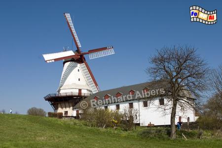 Dybbøl Molle steht auf dem Schlachtfeld der Dübbeler Schanzen, wo 1864 die entscheidende Schlacht im deutsch-dänischen Krieg stattfand., Windmühle, Dänemark, Dybbøl, Dübbel