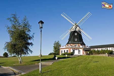 Die Klützer Mühle wurde 1902-1904 erbaut und wird heute als Gaststätte genutzt, Windmühle, Mecklenburg-Vorpommern, Klütz, Klützer Winkel, Galerieholländer