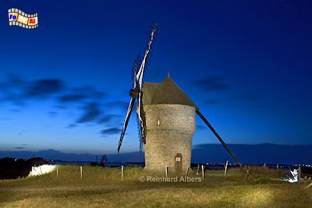 Moulin de la Falaise bei Batz sur-Mer in der Bretagne, Bretagne, Batz, Moulin de la Falaise, Windmühle, foreal, Albers, Foto