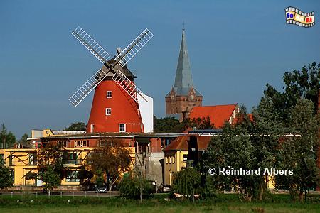 Bad Sülze in Mecklenburg-Vorpommern, Windmühle, Mecklenburg, Bad Sülze, Foto, foreal, Foto,