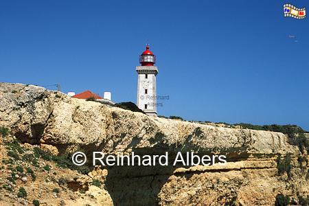 Alfanzina bei Carvoeiro in der Algarve, Leuchtturm, Portugal, Algarve, Carvoeiro, Alfanzina, Albers, foreal, Foto,