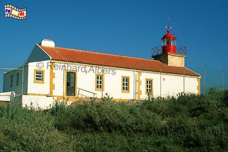Ponta do Altar, westlich der Mündung des Rio Arade bei Portimao. , Leuchtturm, Portugal, Algarve, Ponta do Altar, Albers, Foto, foreal,