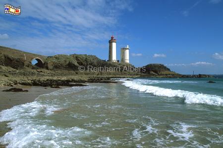 Le Petit Minou westlich von Brest - Bretagne., Leuchtturm, Frankreich, Bretagne, Brest, Le Petit Minou