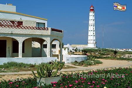 Ilha de Faro in der Algarve., Leuchtturm, Portugal, Algarve, Ilha de Farol, Faro