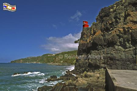 Ribeira Brava auf der Insel Madeira, Leuchtturm, Portugal, Madeira, Ribeira Brava