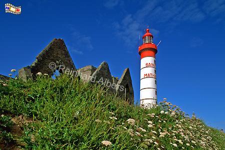 Pointe St.-Mathieu, Bretagne, Leuchtturm, Frankreich, Bretagne, Pointe Saint-Mathieu