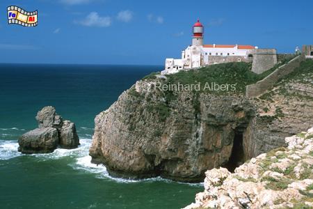 Cabo São Vicente an der Südwestspitze Portugals., Leuchtturm, Portugal, Algarve, Vicente, Albers, Foto, foreal, Farol,