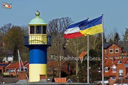 Alter Leuchtturm von Eckernförde., Leuchtturm, Deutschland, Schleswig-Holstein, Ostseeküste, Eckernförde