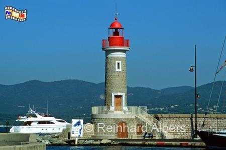 Saint-Tropez in Südfrankreich, Leuchtturm, Frankreich, Saint-Tropez