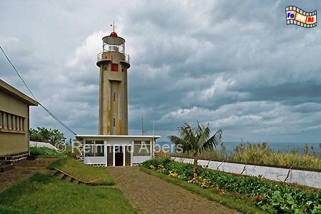 Ponta de Sao Jorge im Norden der Insel Madeira., Leuchtturm, Portugal, Madeira, Ponta de Sao Jorge