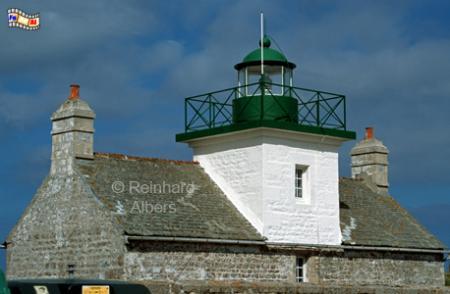 Pointe de Saire in der Normandie, Leuchtturm, Frankreich, Normandie, Pointe de Saire