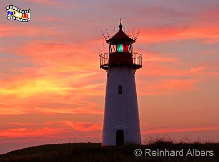 Ellenbogen (West), Insel Sylt, Leuchtturm, Deutschland, Schleswig-Holstein, Nordseeküste, Insel Sylt, Sylt, Ellenbogen, Sonnenuntergang, Abendrot