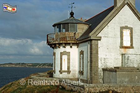 Pointe du Millier in der Bretagne, Frankreich, Leuchtturm, Frankreich, Bretagne, Pointe du Millier