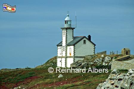 Pointe du Toulinguet an der Westspitze der Crozon-Halbinsel in der Bretagne in Frankreich., Leuchtturm, Frankreich, Bretagne, Pointe du Toulinguet