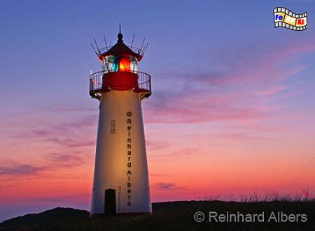 Ellenbogren (West), Insel Sylt., Leuchtturm, Deutscholand, Schleswig-Holstein, Nordseeküste, Insel Sylt, Sylt, Ellenbogen, Sonnenuntergang