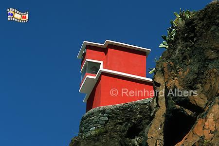 Ribeira Brava auf der Insel Madeira, Portugal., Leuchtturm, Portugal, Madeira, Ribeira Brava