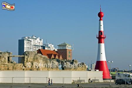 Bremerhaven, Unterfeuer, aufgrund seiner Form auch Minarett genannt., Leuchtturm, Deutschland, Bremerhaven, Unterfeuer