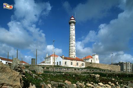 Leça nördlich von Porto, Leuchtturm, Portugal, Porto, Leca, Foto, foreal. Albers, Farol,