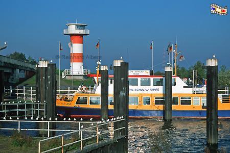 Lühe (Grünendeich) an der Elbe, Leuchtturm, Deutschland, Niedersachsen, Elbe, Lühe, Grünendeich