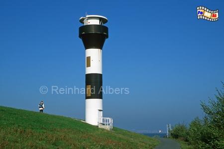 Hollern-Twielenfleth an der Elbe, Leuchtturm, Deutschland, Niedersachsen, Elbe, Hollern-Twielenfleth