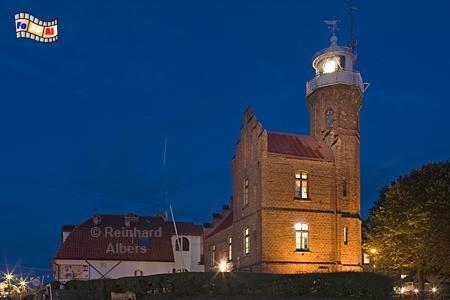 Ustka (Stolpmünde) in Polen an der Mündung der Słupia (Stolpe) in die Ostsee, Leuchtturm, Polen, Polska, Ustka, Stolpmünde