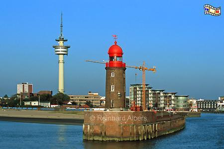 Bremerhaven, Nordmole, Geestemündung, Leuchtturm, Deutschland, Niedersachsen, Bremerhaven, Nordmole, Geestemündung, Geeste