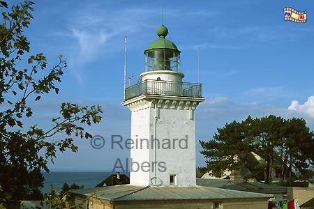 Ver-sur-Mer in der Normandie, Leuchtturm, Frankreich, Normandie, Ver-sur-mer
