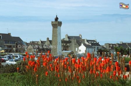 Roscoff in der Bretagne, Leuchtturm, Frankreich, Bretagne, Roscoff
