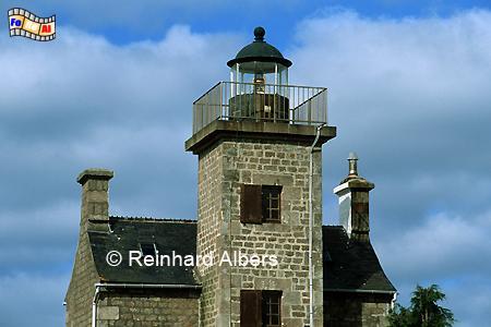 Barfleur in der Normandie, Leuchtturm, Frankreich, Normandie, Barfleur