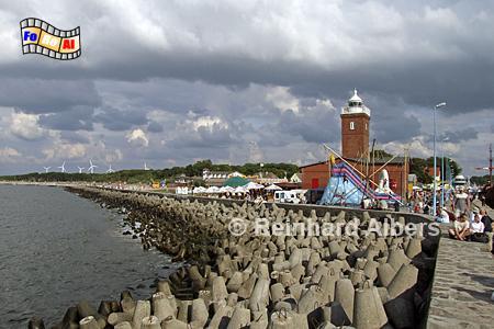 Darłówko (Rügenwaldermünde) an der Ostseeküste in Polen an der Mündung der Wieprza (Wipper)., Leuchtturm, Polen, Pommern, Ostseeküste, Darlowo, Darlowko, Rügenwaldermünde
