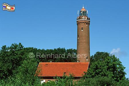 Gąski (Funkenhagen) in Polen, Leuchtturm, Polen, Pommern, Ostseeküste, Gaski, Funkenhagen