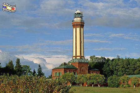 Niechorze (Großhorst) an der Ostseeküste in Polen., Leuchtturm, Polen, Pommern, Ostseeküste, Niechorze, Groß-Horst