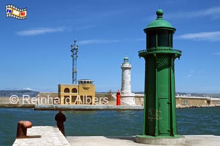 Marseille, Hafeneinfahrt, Leuchtturm, Frankreich, Provence, Marseille