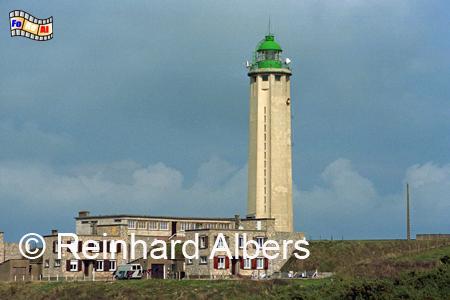 Oberhalb der Steilküste am Cap d Antifer in der Normandie steht dieser Leuchtturm., Leuchtturm, Frankreich, Normandie, Cap d Antifer