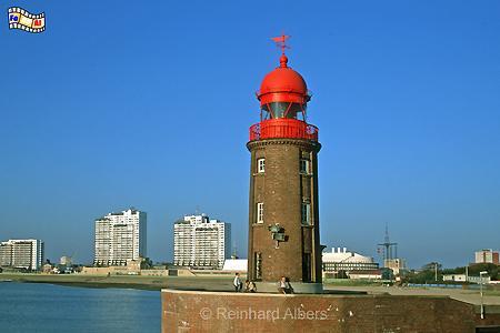 Nordmole an der Geestemündung in Bremerhaven, Leuchtturm, Deutschland, Bremerhaven, Nordmole, Geestemündung, Geeste