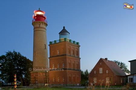 Kap Arkona auf Rügen mit zwei Leuchttürmen, Leuchtturm, Deutschland, Mecklenburg-Vorpommern, Insel Rügen, Rügen, Kap Arkona