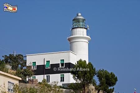 Capo Verde an der italienischen Riveira, Leuchtturm, Italien, Foto, Albers, foreal, Capo, Verde