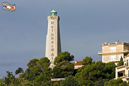 Cap Ferrat an der frz. Riveira., Leuchtturm, Frankreich, Albers, Foto, foreal, Cap Ferrat
