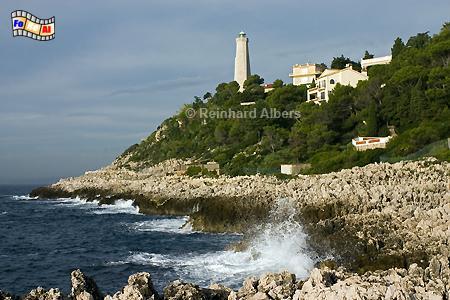 Cap Ferrat an der frz. Riveira, Leuchtturm, Frankreich, Albers, Foto, foreal, Cap Ferrat