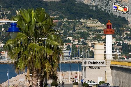 Menton an der Côte d Azur., Leuchtturm, Frankreich, Côte, Azur, Riveira, Menton