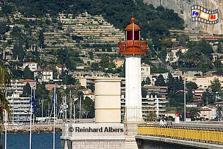 Menton an der Côte d Azur, Leuchtturm, Frankreich, Côte, Azur, Riveira, Menton