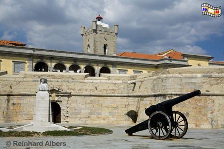Portugal - Fortaleza Sao Juliao da Barro bei Lissabon, Leuchtturm, Portugal, Lissabon, Fortaleza, Barra, Albers, foreal, Foto