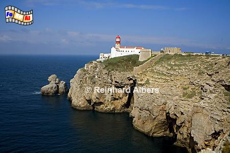 Cabo São Vicente an der Südwestspitze Portugals., Leuchtturm, Portugal, Algarve, Vicente, Albers, Foto, foreal, Farol