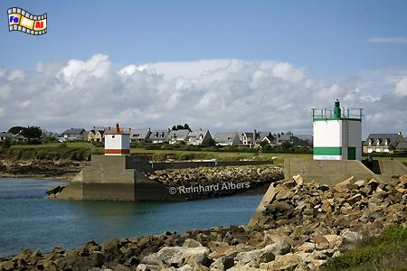 Bretagne: Hafeneinfahrt von Port du Crouesty, Leuchtturm, Lighthouse, Phare, Frankreich, Bretagne, Port, Crouesty, Albers, foreal, Foto,
