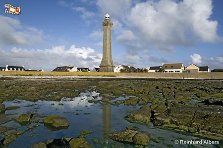 Phare d Eckmühl an der Pointe de Penmarch in der Bretagne., Leuchtturm, Frankreich, Bretagne, Pointe de Penmarch, Eckmühl