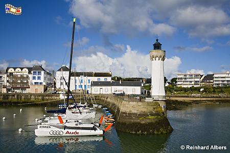 Bretagne - Port Haliguen auf der Presqu île de Quiberon., Leuchtturm, Phare, Lighthouse, Bretagne, Frankreich, Quiberon, Haliguen, Albers, foreal, Foto