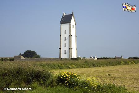 Bretagne - Lanvaon, Leuchtturm, Bretagne, Frankreich, Lanvaon