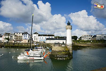 Bretagne - Port Haliguen auf der Presqu île de Quiberon., Leuchtturm, Lighthouse, Phare, Bretagne, Frankreich, Quiberon, Haliguen, Albers, foreal, Foto
