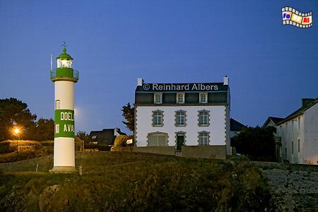 Bretagne - Hafeneinfahrt von Doëlan, Leuchtturm, Bretagne, Frankreich, Doëlan, Albers, foreal, Foto